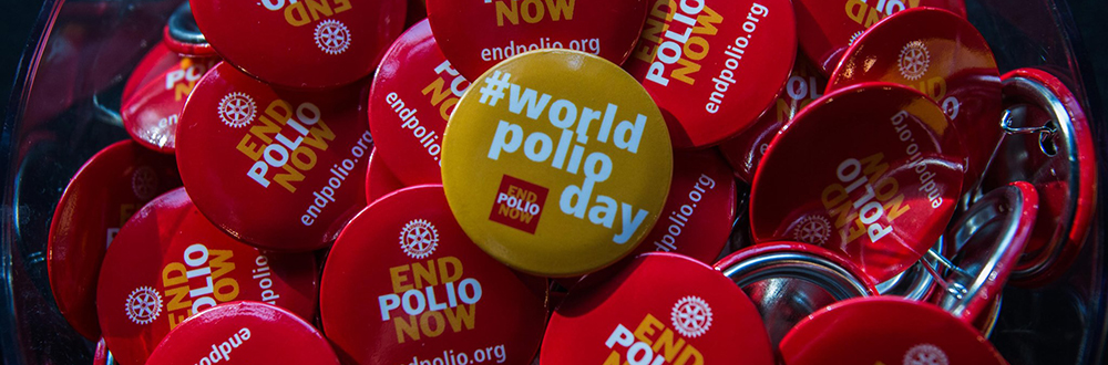 World Polio Day buttons
